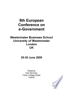ECIW2009 8th European Conference on Information Warfare and Security
