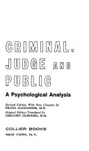 The Criminal  the Judge and the Public