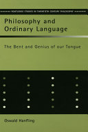 Philosophy and Ordinary Language