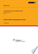 Cultural Guide to Doing Business in India Book