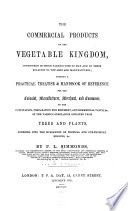 Commercial Products of the Vegetable Kingdom