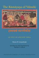 The R  m  ya   a of V  lm  ki  An Epic of Ancient India  Volume III