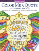 Color Me a Quote Coloring Book