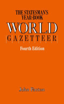 Pdf The Statesman's Year-Book World Gazetteer Telecharger