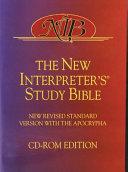 The New Interpreters Study Bible Book