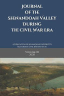 Journal Of The Shenandoah Valley During The Civil War Era