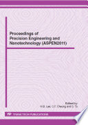 Proceedings of Precision Engineering and Nanotechnology