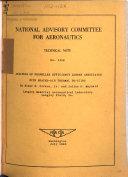 Technical Note   National Advisory Committee for Aeronautics