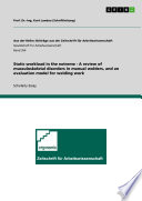 Static workload in the extreme   A review of musculoskeletal disorders in manual welders  and an evaluation model for welding work