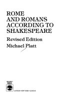 Rome and Romans According to Shakespeare Book