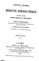 Nouveau manuel de médecine homéopathique