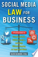 Social Media Law for Business: A Practical Guide for Using Facebook, Twitter, Google +, and Blogs Without Stepping on Legal Land Mines  : A Practical Guide for Using Facebook, Twitter, Google +, and Blogs Without Stepping on Legal Landmines
