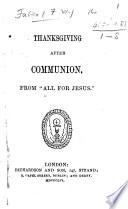 Thanksgiving after Communion  From    All for Jesus      By F  W  F