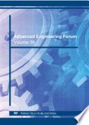 Advanced Engineering Forum Vol 35