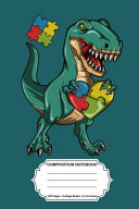 Composition Notebook 6x9 Notebook Journal Dinosaur For Autism Awereness