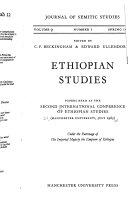 Ethiopian Studies