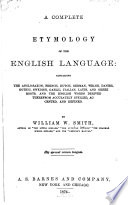 A Complete Etymology of the English Language