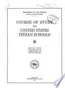 Course of Study for United States Indian Schools