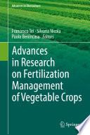 Advances in Research on Fertilization Management of Vegetable Crops