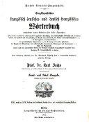 Enzyklopädisches französisch-deutsches und deutsch-französisches Wörterbuch: T. Französisch-deutsch