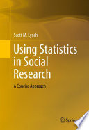 Using Statistics In Social Research Book