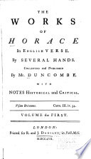 The Works of Horace in English Verse