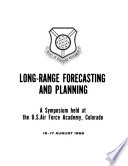 Long range Forecasting and Planning