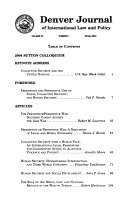 Denver journal of international law and policy - Band 33 - Seite 322