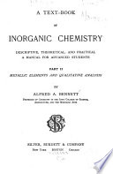 A Text book of Inorganic Chemistry  Descriptive  Theoretical  and Practical Book