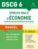 DSCG 6 - Épreuve orale d'économie se déroulant partiellement en anglais - 4e éd.