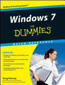 Windows 7 For Dummies Quick Reference Book PDF
