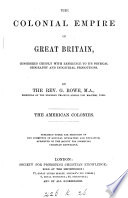 The colonial empire of Great Britain