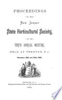 Proceedings of the Annual Meeting of the New Jersey State Horticultural Society ...