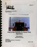 Improving Visibility for Snow Plow Operators