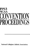 NCAA Convention Proceedings