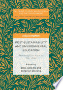 Post Sustainability and Environmental Education Book