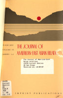 The Journal of American East Asian Relations