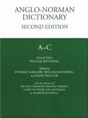 Anglo Norman Dictionary