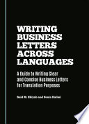 Writing Business Letters Across Languages