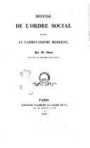 Defense de l'ordre social contre le carbonarisme moderne par M. Boyer