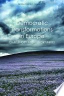 Democratic Transformations In Europe