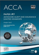 ACCA P7 - Advanced Audit and Assurance (UK) - Study Text 2013