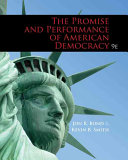 Cover of Promise and Performance of American Democracy