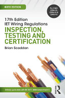 17th Ed IET Wiring Regulations  Inspection  Testing   Certification  8th ed