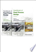 Handbook of Food Process Design  2 Volume Set