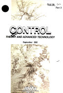 Control Theory and Advanced Technology Book