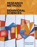 Research Methods for the Behavioral Sciences Book PDF