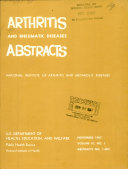 Arthritis and Rheumatic Diseases Abstracts