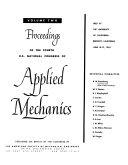 Proceedings of the     U S  National Congress of Applied Mechanics