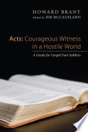 Read Online Acts: Courageous Witness in a Hostile World Epub